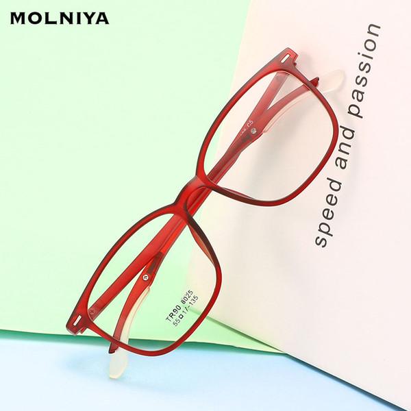 Nuovi occhiali 100% TR90 luce flessibile montature da vista Occhiali da vista Donna Uomo Cornice moda occhiali da vista Vintage