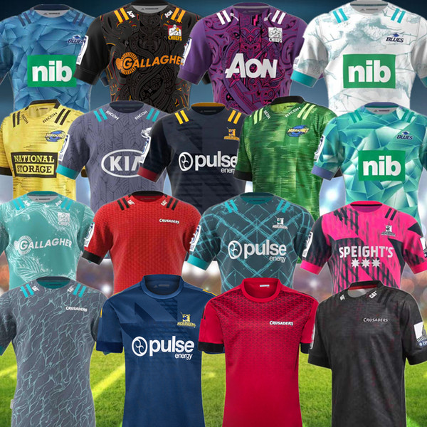 best selling 2020 Super Rugby Jersey new Zealand super Blues Hurricanes Crusaders Highlanders 20 chiefss Rugby Jerseys shirts size S-5XL