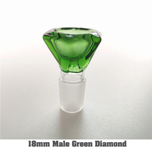 18 mm macho de verde diamante