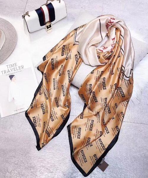 a0230f0ae329e 90*180cm Creative fashion design silk satin long scarf thin design spring  summer travel air conditioning room good partner