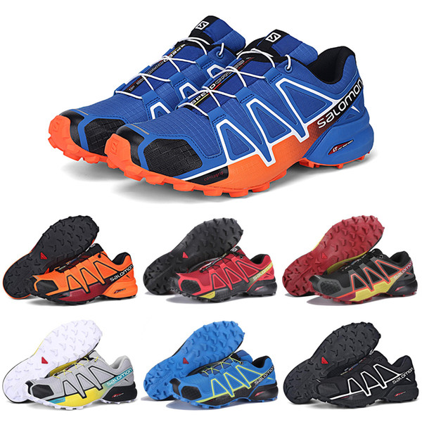Großhandel Salomon Speedcross 4 IV CS Trail Running Schuhe Schwarz Orange Blau Speed Cross 4 Damen Herren Trainer Outdoor Wandern Sport Sneakers 36
