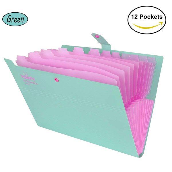 10pk Expanding File Folder Pockets Letter Document Paper Storage Office Supplies