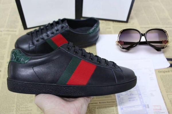 Designer sapatos ACE Luxo tigre branco sapatos abelha cobra bordados Couro Designer Sneaker Mens Mulheres ShoesR03 Casual