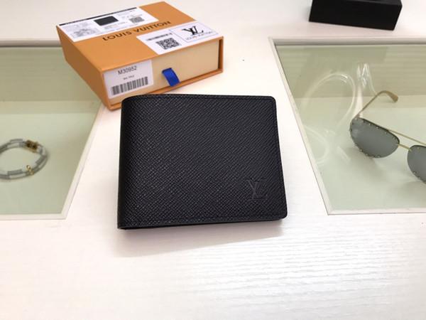 Portafoglio 058 2019 Fashion Style Stile Classico Wallet Varie scelte di colore di stoccaggio della carta di credito e soldi portafoglio degli uomini del trasporto libero + Box