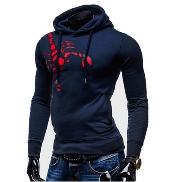 Zogga 2019 Men Hoodie Sweatshirt Plain Winter Fleece Pullover Hoodies Hip Hop Streetwear Autumn Regular Hooded Popular Clothing