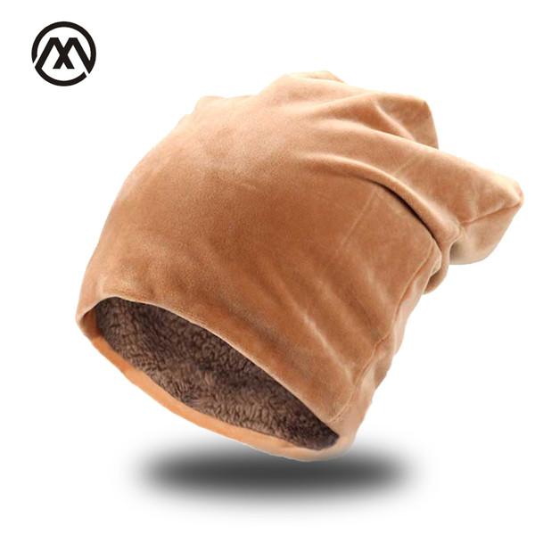 Winter thick windproof velvet beanie hat for women Men Winter skiing warm Skullies hat Unisex Cat ears Beanies Fashion knit
