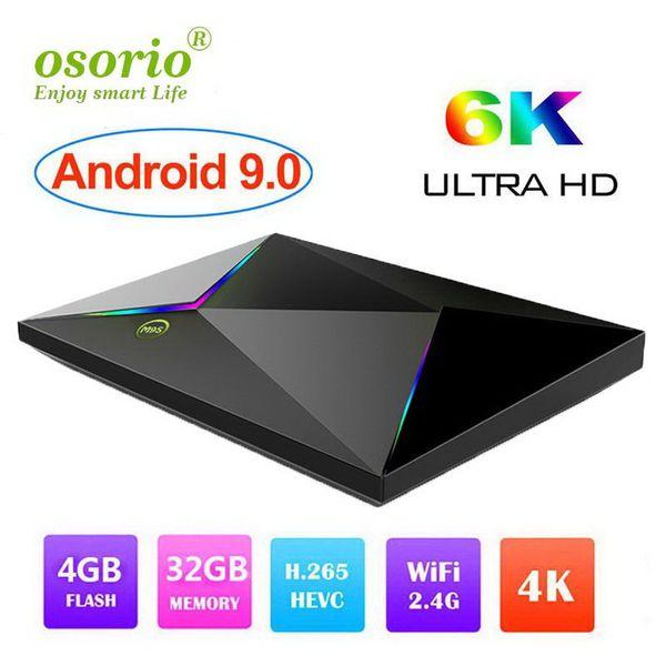 Caja de TV 9.0 Android Allwinner H6 Quad Core 4GB Ram 32G Rom M9S Las cajas de TV Z8 son compatibles con WiFi 2.4G 1080p 6K Reproductor multimedia de televisión inteligente Caja IPTV