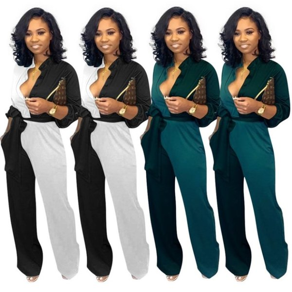 womens designer jumpsuits long sleeve rompers sexy bodycon playsuit fashion comfortable clubwear elegant breathable jumpsuit klw2183