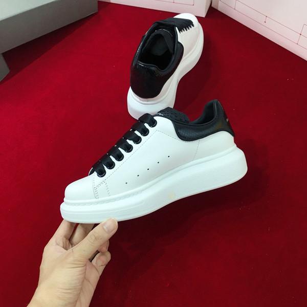 Mode véritable luxe pour hommes en cuir femmes chaussures de sport Triple Noir Blanc Laser Iridescent chaussures de sport de marque plate-forme xsd19050301