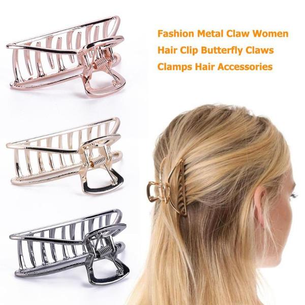 Moda Garra de Metal Mulheres Grampo de Cabelo Grampos de Borboleta Hairpin Headwear Suprimentos de Cabeleireiro Barbeiro Grampo de Cabelo