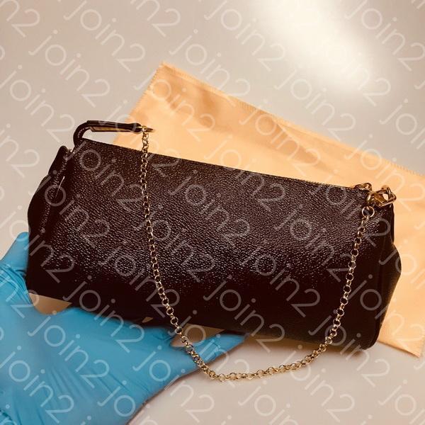 EMBRAGUE DE EVA, Moda para mujer de alta calidad Bolso cruzado Bolso de cadena de la tarde Bolso clásico marrón impermeable de cuero w / Dust Bag N55231