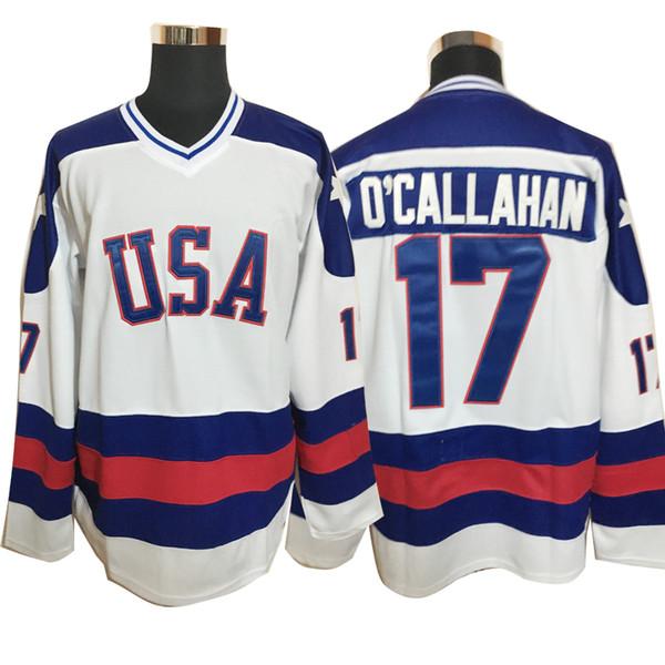 1980 Чудо на льду команды США 21 Майк Эрусион Хоккей Трикотажные мужские синий белый 17 Jack O'Callahan # 30 Джим Крэйг Джерси sxxxl
