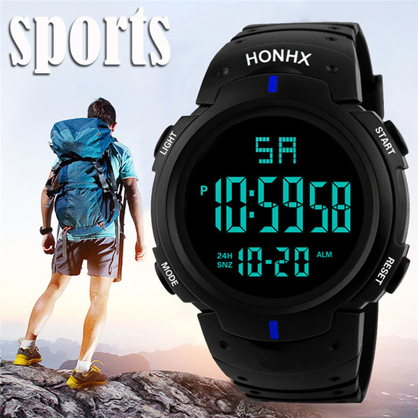 Luxury Sports Watch Men Analog Digital Silicone Army Sport LED Horloges Wrist Watches Men Relogio Masculino For Gifts##