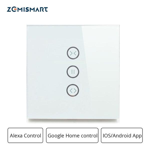 Zemismart Google Ana Alexa Echo Perde Standart Silindir Motor Slayt Motor Wifi APP Siri Kontrolü İçin Kör Anahtarlar