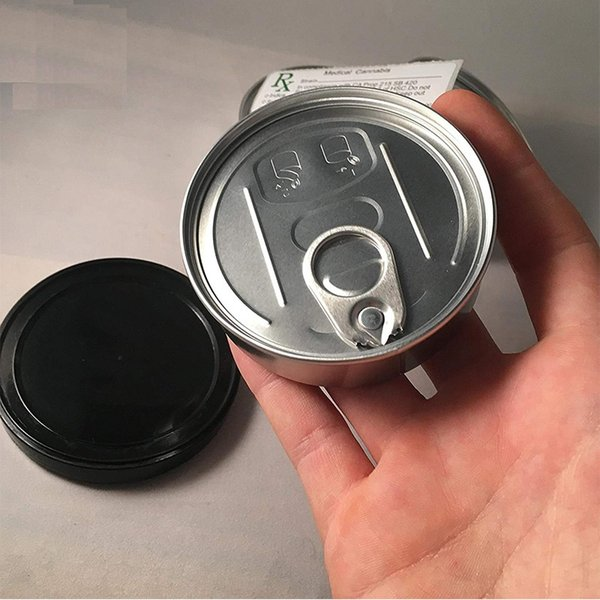 smart bud cans food grade storage container can dry herb PET easy open end ring pull tab Free Shipping