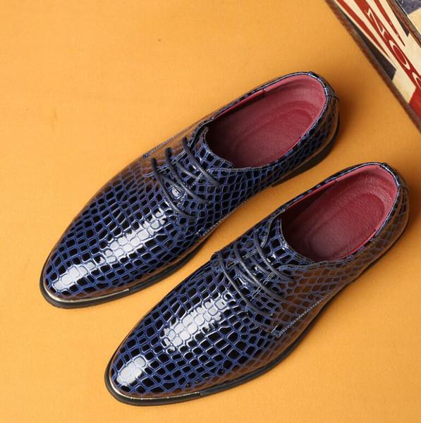 Erkek tasarımcı slaytlar erkek ayakkabı yılan derisi bağcık ayakkabı, Erkek Tasarımcı Ayakkabı İtalyan tarzı loafer'lar G5.88