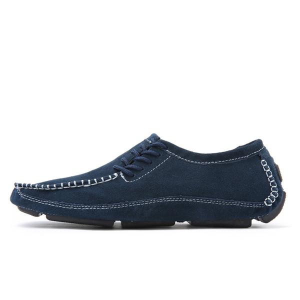 Sapatos feitos à mão dos homens casuais luxo genuíno couro italiano homens mocassins mocassins slip on mens barco shoes plus size