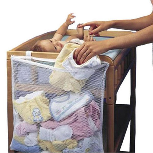 Baby Cot Bed Hanging Storage Bag Crib Organizer Toy Diaper nappy Pocket for Crib Bedding Set cheap crib bedding accessory LE356