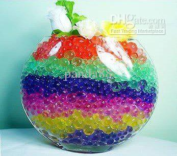 Wholesale 50bags Jelly Crystal Mud Soil Water Beads Flower Plant Magic Ball 5g /Bag Free Shipping