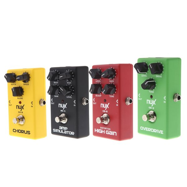 NUX Guitar Pedal 4 Effects Chorus Low Noise/ Overdrive/ High Gain/ Simulator Guitar Effect Pedal Guitar Accessories