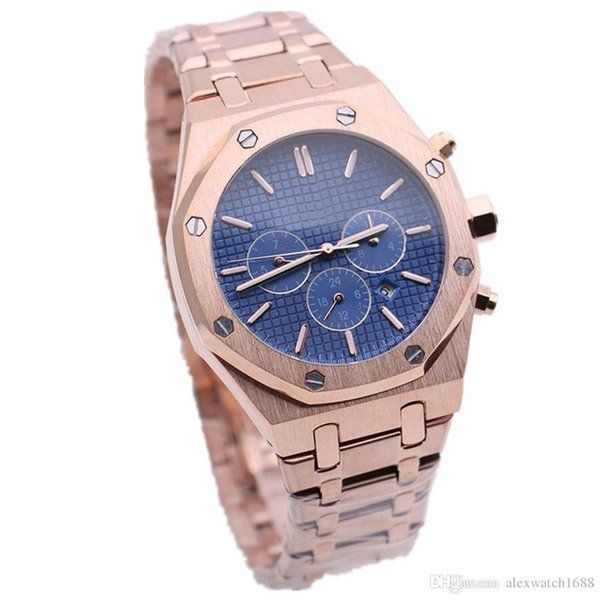 2019 New Mens Watch Royal Oak Offshore Automatic Mechanical Movement 42mm Stainless Steel All Dials Work Male Clock Wrist Watches on Sale