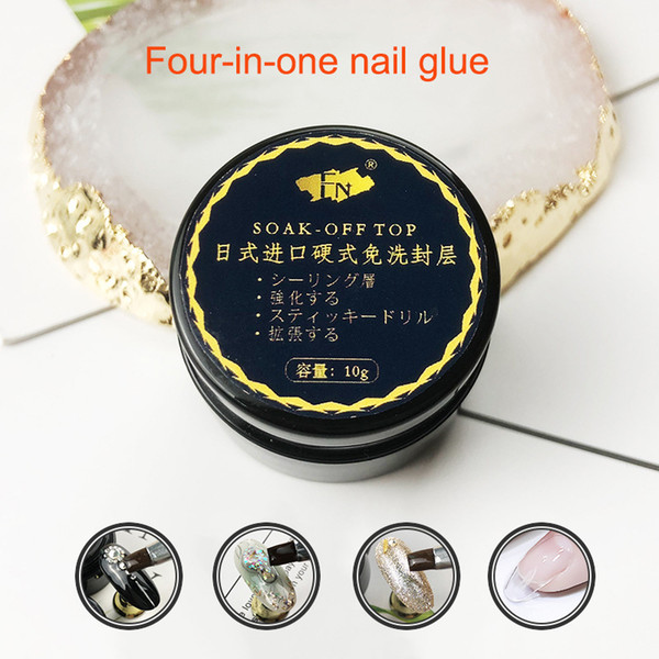 1 Pcs Top Coat UV Gel Nail Art Polish Seal Glaze Fast Dry Soak Off Hard Gel Nail Polish Drop Ship