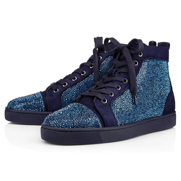 2018 diseñador Studded Spikes Flats zapatos Marca Red Bottoms zapatos de lujo Hombres Mujeres Amantes de la fiesta Zapatillas de deporte de cuero genuino tamaño 36-46