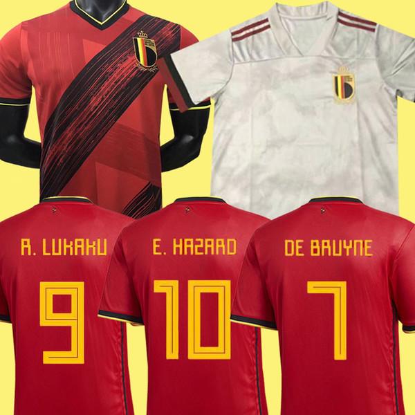 2019 2020 European Cup league Belgium home soccer jersey DE BRUYNE football shirt uniform E.HAZARD 2018 Belgian away camiseta de fútbol kits
