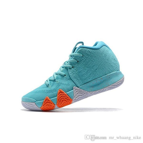 size 40 bdaea d71ec 2019 Cheap New 2019 Mens Kyrie Irving Basketball Shoes Power Is Female Sky  Blue Kyries 4s IV Sneakers Trainers With Box For Sale From Mr_whuang_nike,  ...