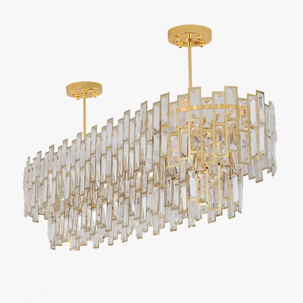 Araña de cristal de lujo luminaria moderna Lustre Cristal Luz LED Casa Decration Sala de estar Comedor Hotel Cafe Bar