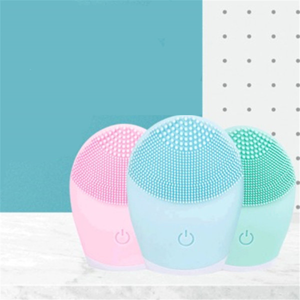 best selling Electric Face Cleansing Brush Waterproof Deep Pore Sonic Vibration Facial Clean Brush Silicone Face Cleanser Massage Skin Care JK2006