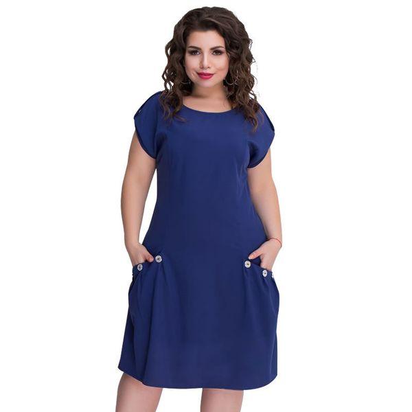 2019 5xl 6xl Large Size Dress Summer Beach Dress Women Lose Midi Dress Short Plus Size Women's Clothing Vestido Y19071101