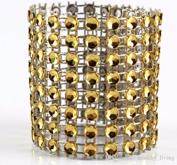 Diamond Napkin Rings for Wedding Napkin Holders Rhinestone Chair Sashes Banquet Dinner Christmas Table Decoration Gold and Silver 9866