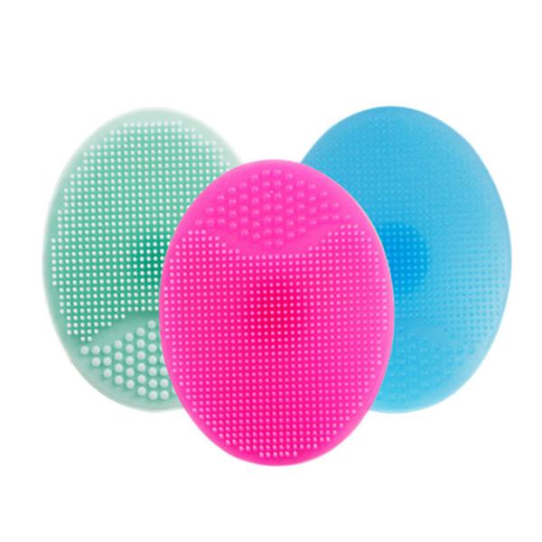 1 pcs Soft Silicone Facial Cleansing Brush Face Washing Exfoliating Blackhead Brush Remover Skin SPA Scrub Pad Tool Baby shampo D19010803