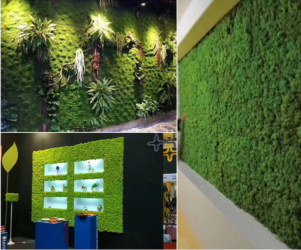 1M wide Artificial Green Moss Grass Mat Plants Faux Lawns Turf Carpets for Garden Home Party Decoration