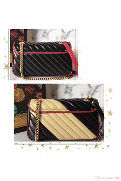 Spedizione gratuita Marmont bag Borse di lusso Borse di design di alta qualità Borse a tracolla morbide originali in vera pelle da donna
