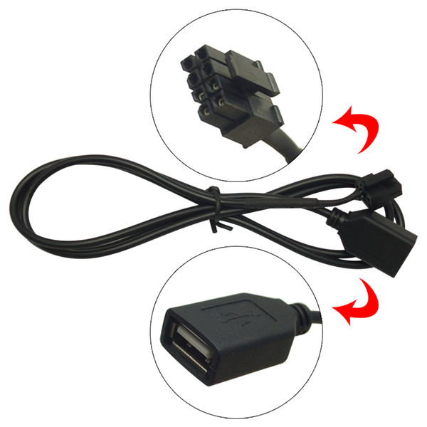 Car Audio Female USB Cable Adapter 4Pin Connector For Chery Qiyun/Fulwin CD Player USB Wire #5663
