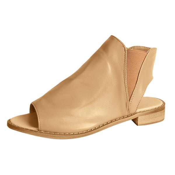 YOUYEDIAN Women Heel Slip-On fashion wedges platform sandals women ladies summer sandals for beach ladies plus siz #w30