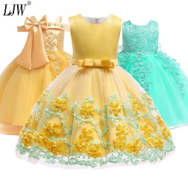 Kids Tutu Birthday Princess Party Infant Lace Children Bridesmaid Elegant Dress For Girl Baby Girls Clothes Q190522