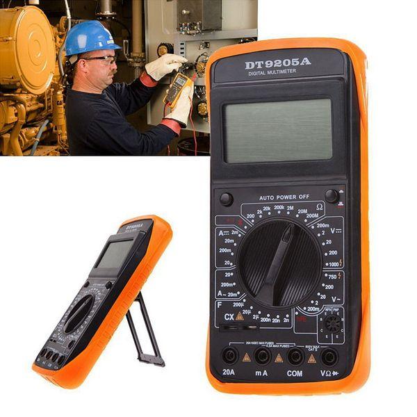 DT9205A Digital Multimeter LCD AC/DC Ammeter Resistance Capacitance Transistor Tester Diagnostic-tool VEH61