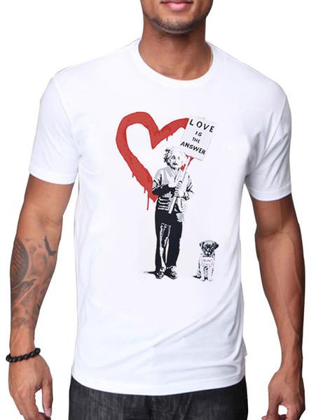 ALBERT EINSTEIN LOVE EST LA RÉPONSE DE BANKSY DESIGN T SHIRT mens fierté cattt coupe-vent sombre Carlin