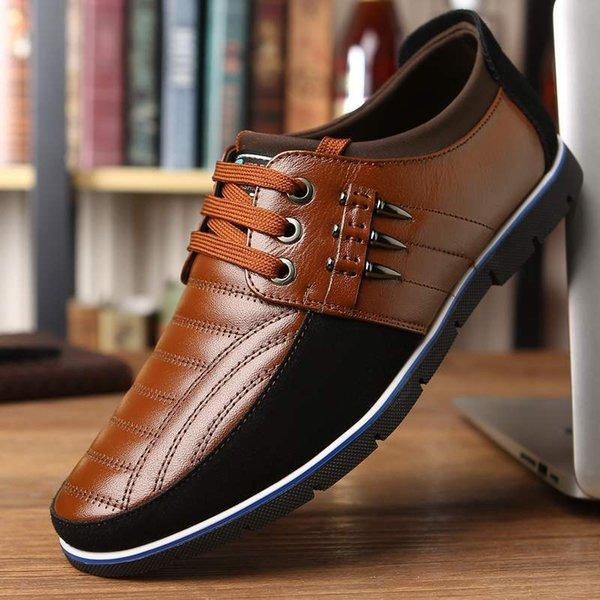 New Large Size Mens Casual Leather Shoes-Style Business Dress Shoes Men Shoes Lace-up Soft-Soled Shoes 2020 New New Large Size Mens Casual Leather Shoes-Style Business Dress Shoes Men Shoes Lace-up Soft-Soled Shoes 2020 New
