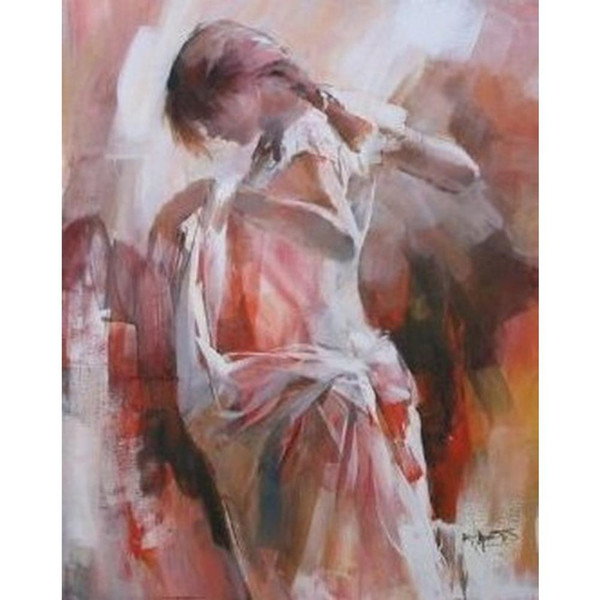 Art Gift beautiful Lady oil paintings Girl dresses herself by Willem Haenraets hand-painted picture for wall decor
