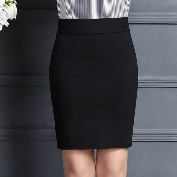 2019 New Women Skirt Work Fashion Stretch Slim High Waist Pencil Skirt Bodycon Sexy Mini Office Work Free Shipping