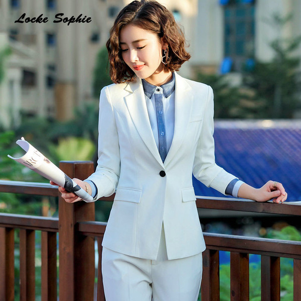 Women's Plus size Slim fit Blazers coats 2019 Spring cotton blend Small Suits jackets ladies Skinny office Blazers Suits coats