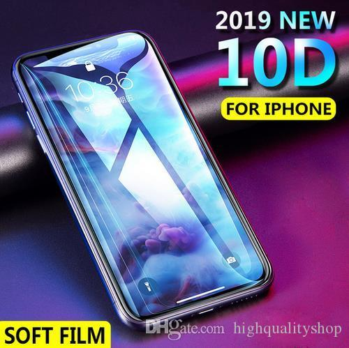 10D Soft Full Cover Screen Protector For iPhone 6 6S 7 8 Plus X 10 Hydrogel Membrane Film For iPhone 8 7 6 Plus Film Not Glass