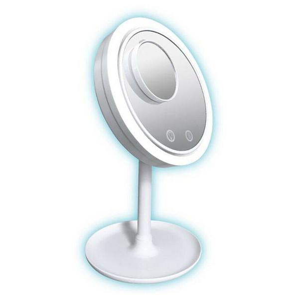 5X ingrandimento lampada LED dello specchio di trucco 3 in 1 Cosmetic Beauty Desk-Top mantiene la pelle fredda bellezza illuminato LED Specchi MMA2194