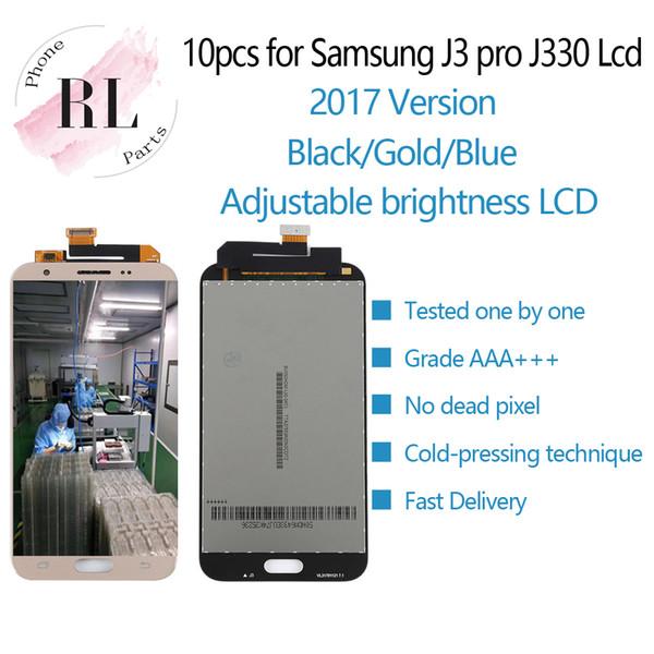 10PCS Luminosité réglable LCD pour samsung galaxy J3 2017 J330 LCD écran tactile numériseur Assemblée livraison gratuite