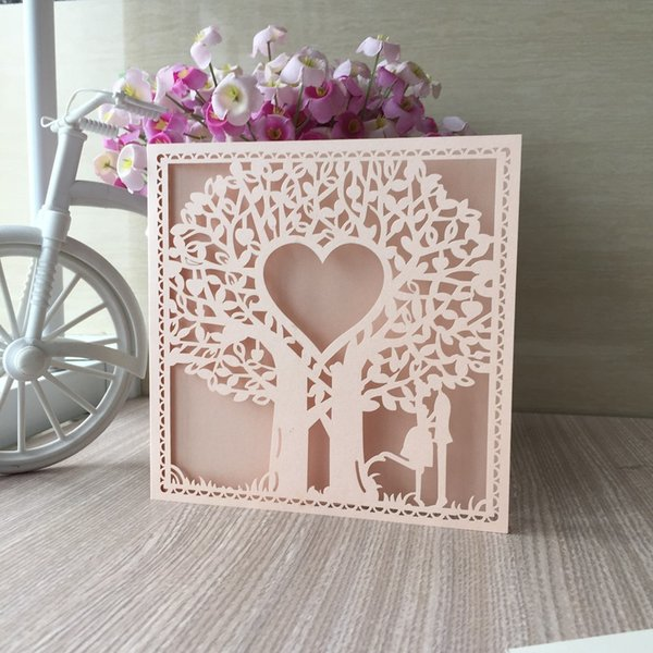 Hollow Laser Cut Invitation Cards Wedding Engagements Ceremony Birthday Party Valentine S Day Invitations Lace Design Cards Purple Wedding Invitations