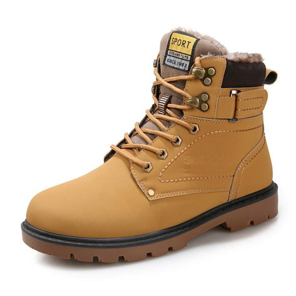 2018 Big Size 39-46 Winter Mens Boots Men Casual Fashion Snow Mens Ankle Boots Leather Boots For Men Shoes S847